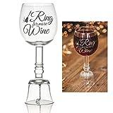 "Fineway Stilvolles Weinglas mit Ringglocke""Ring for More Wine"""