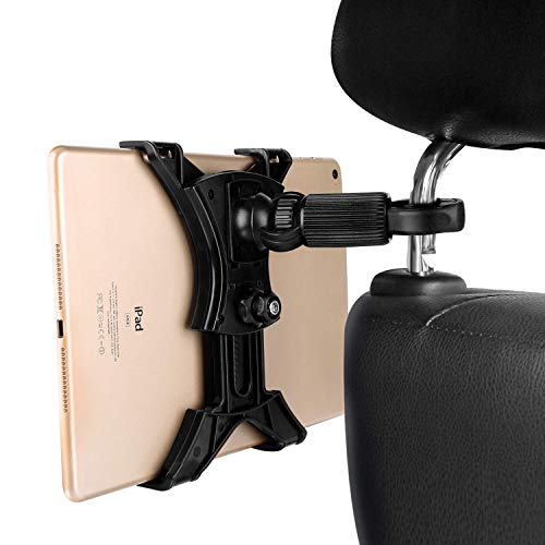 MAYOGA Auto-Kopfstützen-Halterung, Universal-Halterung für Tablets, iPad-Halterung, Rücksitz-Halterung für Autositz, 360° drehbar, für iPad, iPad Air/Mini, Samsung Galaxy 17,8-30,5 cm