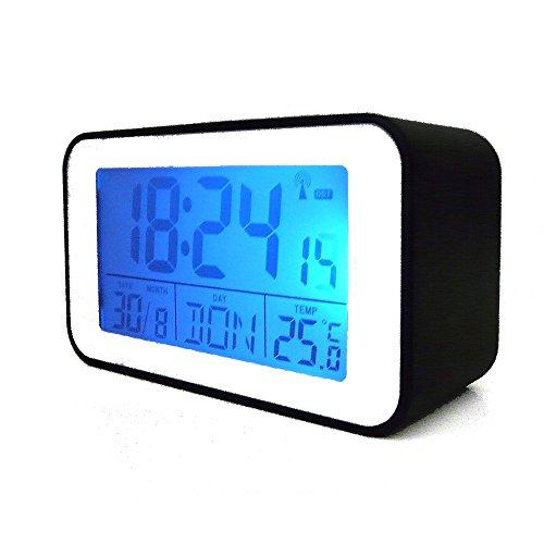 Funkuhr mit Thermometer Funkwecker Wecker Uhr Tischuhr (4491S)