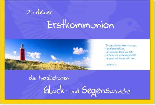 metalum Premium-Glückwunschkarte zur Kommunion liebevoll gestaltet, mit einem tollem, abnehmbarem Metall - Lesezeichen veredelt, auch als kleines Geschenk, das in Erinnerung bleibt