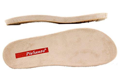 Scarpe donna comfort pelle Piesanto 6802 sandali soletta estraibile comfort larghezza speciale Charol Taupe