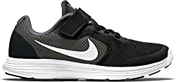 Nike Jungen Revolution 3 Psv Sneakers, Grau (Dark Grey/White-Black-Pr Pltnm), 35 EU (Herstellergröße : 2.5 UK)