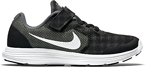 Nike Revolution 3 - Chaussures de Running Entrainement - Garçon - Gris (Dark Grey/White Black Pr Pltnm) - 28 EU