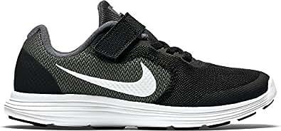 Nike Revolution 3 Psv, Boys' Low-Top Sneakers, Grey (Dark Grey/White-Black-Pr Pltnm), 10.5 Child UK (28 EU)