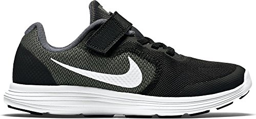Nike Revolution 3, Baskets Basses Mixte Enfant, Gris (Dark Grey/White Black PR Pltnm), 27.5 EU