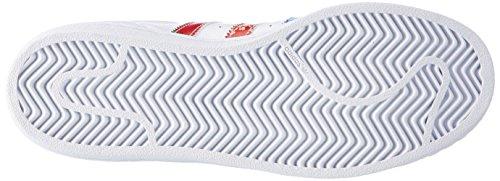adidas Damen Superstar W Sneaker Weiß (Ftwwht/Ftwwht/Powred)