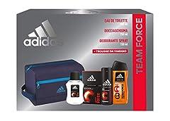 Idea Regalo - Adidas, Confezione Regalo Uomo Team Force Trousse da Viaggio, 150 Ml