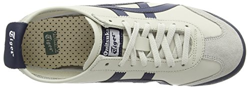 Onistuka Tiger Mexico 66, Sneakers Basses Mixte adulte Blanc (Birch/India Ink/Latte 1659)