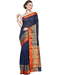 KVS FAB Navy Blue & Orange Colour Cotton Silk Saree(KVSSR21023SHIMAYA_2)