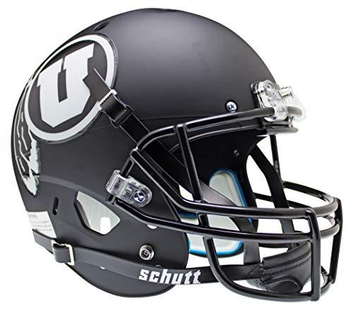Schutt NCAA Utah Utes Replica XP Helm–Alternate 2matt (schwarz/weiß)