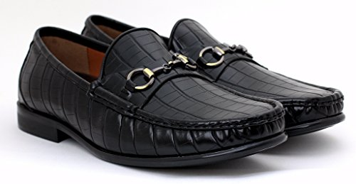 Herren Freizeit Designer Slipper Zum Reinschlüpfen Mode Schuhe Smart Fahren Mokassin Größe Schwarz