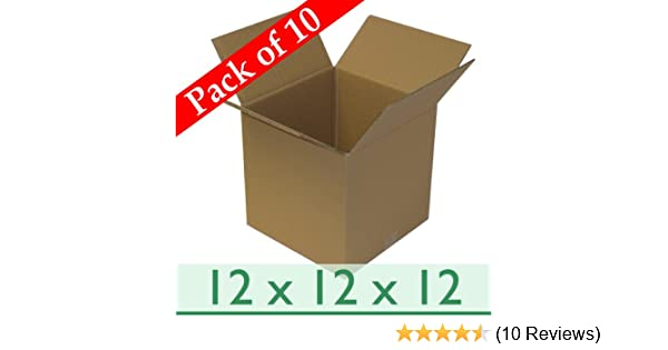 1 Double Wall Strong Flat-packed 457x305x305mm Corrugated Removal Storage Boxes 18x12x12 Inch
