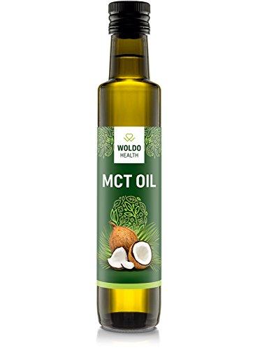 MCT-Öl aus Kokosöl Extrakt geschmacksneutral Vegan 250ml - Caprylsäure (C-8) und Caprinsäure (C-10) -