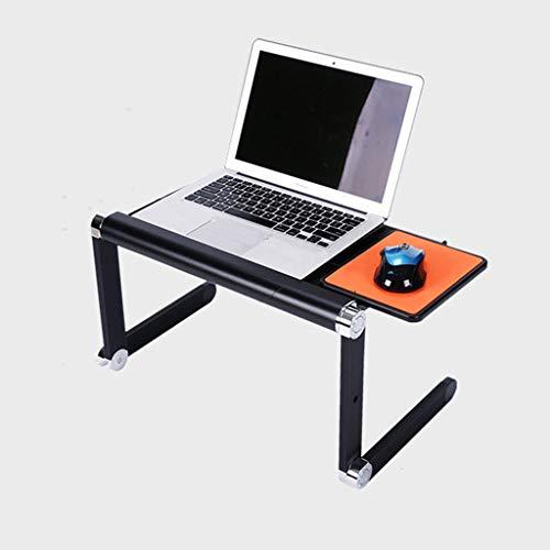 Table Pliante Table portative Pliante en Aluminium pour Ordinateur Portable (Color : Black)