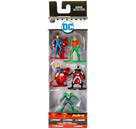 Jada Die Cast Nano Metalfigs DC Comics alle 6 Figuren im Set ca.5 cm groß