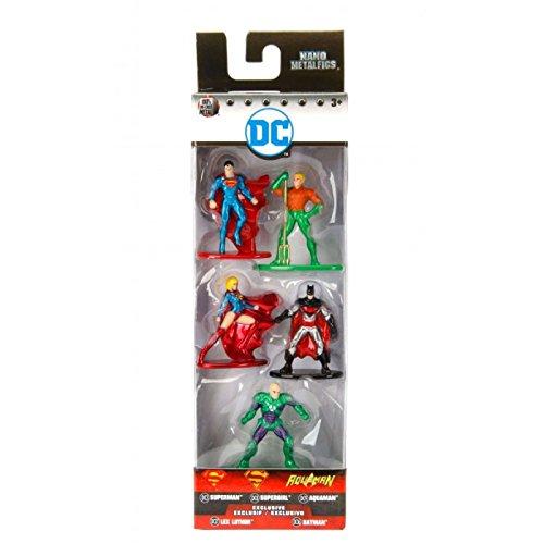 Jada - Nano Metalfigs DC Comics 5 Pack: Pack 2 (Superman Rebirth, Aquaman, Supergirl, Lex Luthor, Batman Earth 2)
