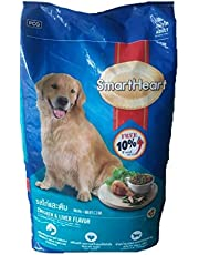 Smart Heart Adult Dog Food Dry Chicken and Liver, 20 kg (Free 10% Inside)