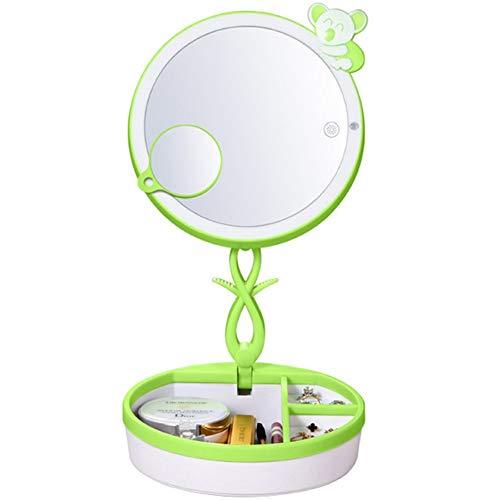 OUSENR Lámpara De Mesa Led Plegable Espejo De Maquillaje Con Luz De Escritorio Táctil Inteligente