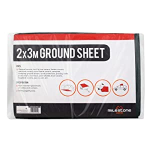 41prexEdfWL. SS300  - Milestone Camping 12010 Ground Sheet - Green, 2mx3m