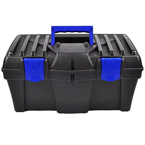 BULTO Werkzeugkoffer Werkzeugkasten 18S – schwarz/blau – 460 x 257 x 227 mm - 2