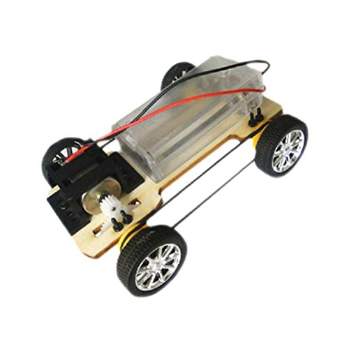 Tradico® Wooden Handcraft DIY Four-Wheel Drive Electric Car Without Battery Car Toys Gs