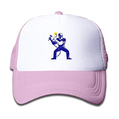 Trushop Boy's Girl's Welder Welding 1 Mesh Baseball Caps Kids Adjustable Baseball Kappe