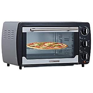 Mini Backofen 20 Liter | Pizza-Ofen | Minibackofen | 3in1 Backofen mit Umluft | herausnehmbares Krümelblech | 100°C - 250°C | Innenbeleuchtung | 1380W | Ober-/Unterhitze | Edelstahl | 60 Min. Timer