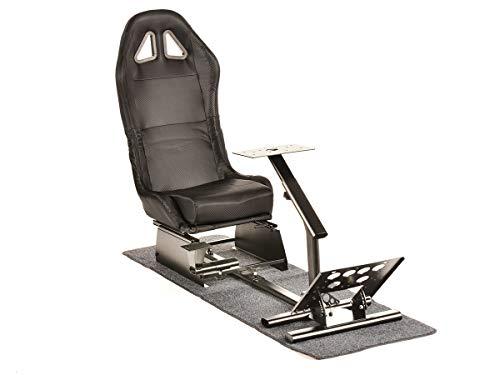 FK-Automotive FK Gamesitz Spielsitz Rennsimulator eGaming Seats Suzuka Carbonlook schwarz mit Teppich FKRSE17921