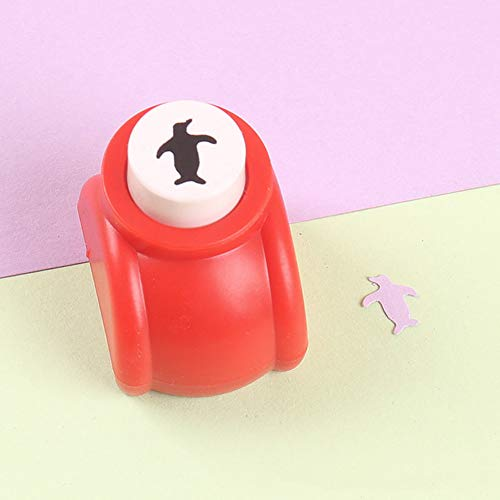 Mini-Bastelpapier Shaper Perforation, Prägung von Blumen, Grußkarte, Fotoalbum, Handwerk Cutter 1.4 * 1 * 1.3 inch Pinguin -