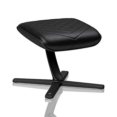 noblechairs Fußstütze für Gamingstühle/Bürostühle - PU-Kunstleder - Schwarz