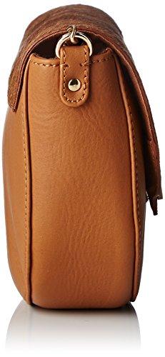 Petite Mendigote Mary, Sac porté épaule Femme Marron (Tabac)