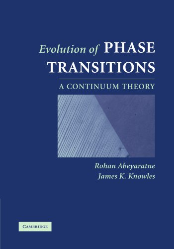 Evolution of Phase Transitions Paperback