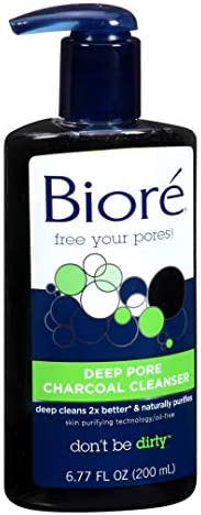 Biore Deep Pore Charcoal Cleanser - 200 ml