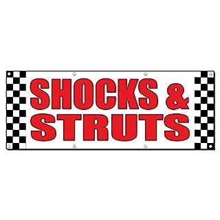 Schocks & Streben Auto Body Shop Repair 13Oz Vinyl Banner Schild mit Tüllen 2 Ft X 4 Ft
