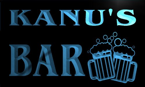 w036544-b-kanu-name-home-bar-pub-beer-mugs-cheers-neon-light-sign