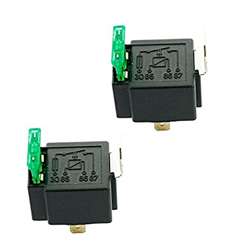 HOUTBY™ 2Pack Universal 12V 30A Car Auto Heavy Duty Relay Kit Tool 4Pin Fuse On/Off SPST Metal