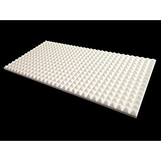 Advanced Acoustics Mel-Acoustic Pyramid 40mm White Melamine Acoustic Foam Panel 600x1200 Pack of 2