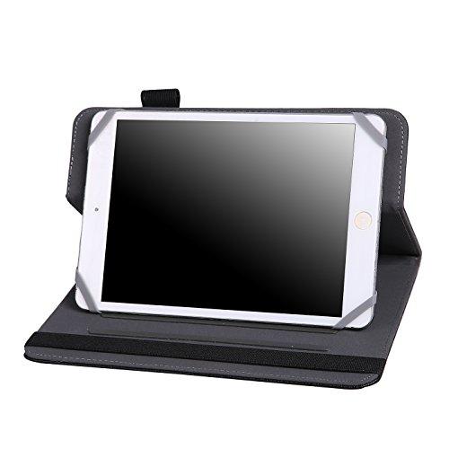 Universal Schutzhülle für 7/20,3cm Tablet-Folio Cover Schutz Ständer für Touchscreen Tablet wie Acer, Asus, Chromo Inc, Dell, Galaxy Tab, HP, iPad Mini, NeuTab, Nextbook, Nexus schwarz Schwarz (Tablet Cover Chromo 7)