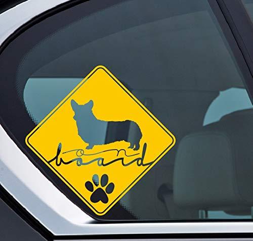 Pembroke Welsh Corgi on board Aufkleber, Hund an bord, Dog on board, Sticker Auto, Dog, Hund, Puppy, Type C