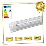 T8 LED 8w Leuchtstoffröhre 60cm 850 Lumen Neutralweiss 4000K LED Tube Röhre Lichtleiste Leuchtröhre Unterbauleuchte Küche Fluorescent Lamps mit Fassung klarer Deck