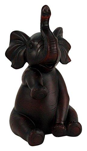 stealstreet ss-ug-pwe-154, 20,3cm High Five Elefant dunklen Mahagoni Faux Holz Figur, Burgund -