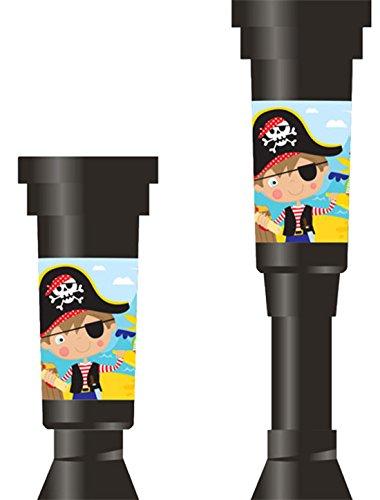 Teleskop Piraten Muster 4 Stk., Mehrfarbig (Halloween-papier-maske-muster)