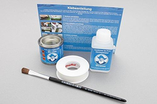 Kleber Kit für Schlauchboote: PVC Kleber + Kleberverdünner + Pinsel + Klebeband