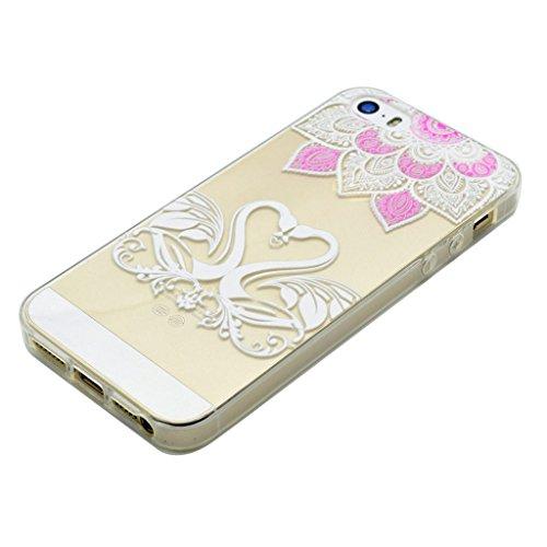 iPhone 5s Coque - MYTHOLLOGY Antichoc Housse Transparent Silicone Souple Slim Coque Pour iphone 5S / iphone SE /iphone 5 - YMXN AXQE