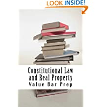 Constitutional Law and Real Property *e-book: e book, Ivy Black letter law books - Authors of published bar exam essays - LOOK INSIDE!
