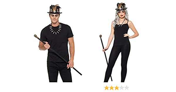Halloween Voodoo Witch Doctor Top Hat with Feather