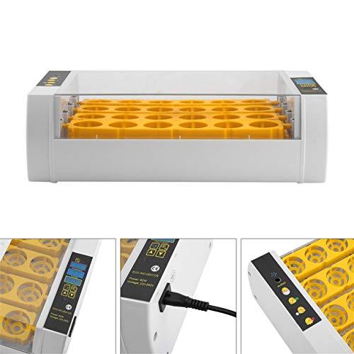 HONGIRT Pratica 24 Uova di Grande capacità Mini incubatrice per pollame di Pollo Quaglia Turchia Uova di Uso Domestico Automatica Uovo di tornitura (Colore: Giallo)
