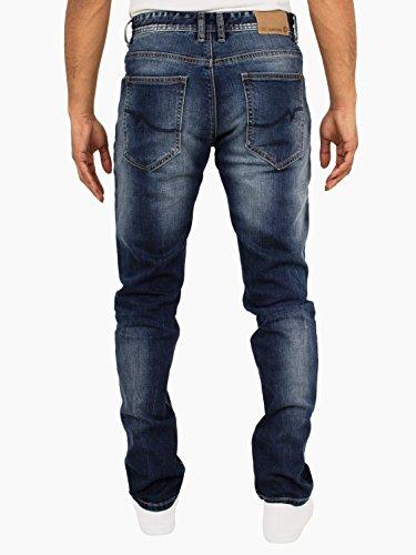 ETO Jeans Herren Kegelförmig Klassische Schlicht Denim Hell/Dunkel Stonewashed Jeans Licht Steingewaschen