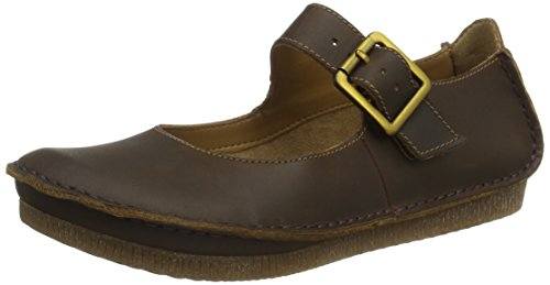 Clarks Janey June, Ballerines Femme Marron (Beeswax)