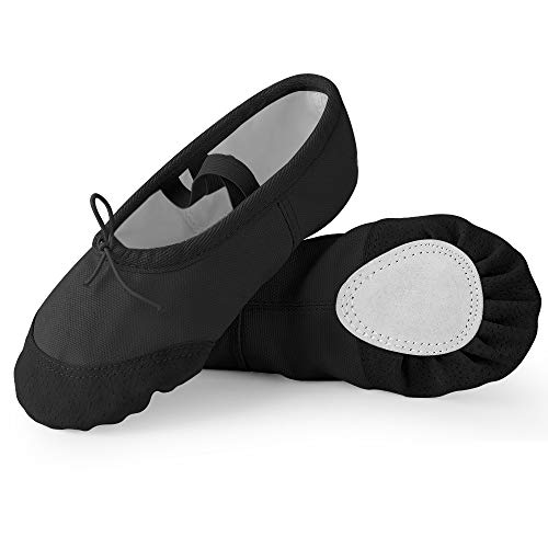 Soudittur Girls Ballet Shoes Canvas Split Sole Dance Slippers Yoga Flats Gymnastic Shoes for Children/Kids/Women/Adults/Boys/Toddler